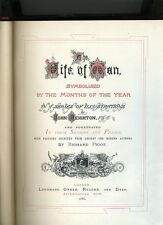 THE LIFE OF MAN SYMBOLIZED BY THE MONTHS OF THE YEAR. PIGOT-1866-ILLUS-1ST COLOR
