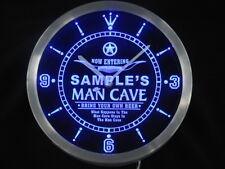 ncpb-tm Man Cave Cowboys Personalized Your Name Bar Pub Decor Neon Led Clock