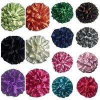 "10 pieces GRAB BAG 3"" satin rolled ruffle puff flower"