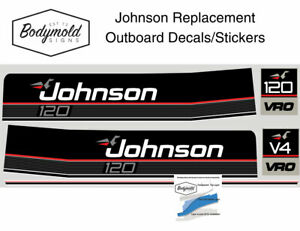 Johnson 120hp 1989 to 1990 Style Replacement Outboard Decals/Stickers