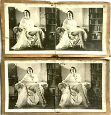 VINTAGE RISQUE MODEL 2 EROTIC STEREOSCOPIC CARDS PHOTOGRAPHIC STEREOVIEW IMAGES