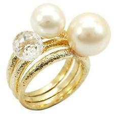 Pearl Band Costume Rings