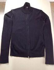 Takeo Kikuchi Men's Black Zip Down Ribbed W/ Leather Stitching Coat Size 3