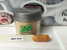 SNS #GL01 GLITTER COLLECTION Signature Nail systems Dipping Powder: Prebonded