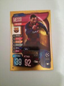 Lionel Messi 2019/20 Topps Match Attax UCL Centurion NO305 Barcelona card