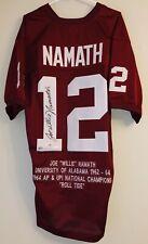 Joe Willie Namath Signed Alabama Autographed Auto Football Jersey JSA & FANATICS