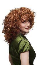 Damenperücke Perücke Lockenpracht lockig voluminös Rot Blond Mischung 350/144