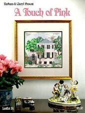 Counted Cross Stitch Touch of Pink Charleston House Custom Kit Vintage 1993