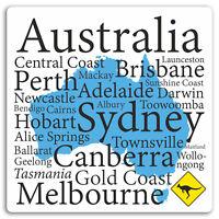 2 x 10cm Australia Map Vinyl Stickers - Fun Travel Sticker Laptop Luggage #17239