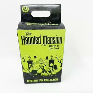 Disney Parks Haunted Mansion Mystery 2 Pin Collection Box Glow Dark Sealed New
