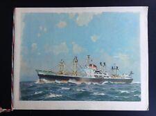 Ancienne plaquette pour lancement Cargo Andalien 1955 TBE
