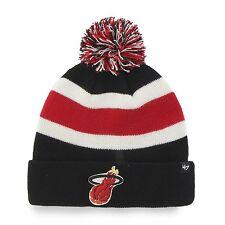 47 Brand Miami Heat Black Breakaway Pom Top Cuff Knit Hat