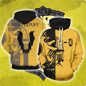 Harry Potter 3D Printed Hoodie Unisex Sweatshirt Cosplay Pullover Jacket Coat