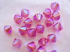 12 Rose AB2X Swarovski Beads Bicone 5328 6mm