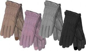 Rock Jock Ladies Shower Proof Touch Screen Compatible Faux Moleskin Gloves UK