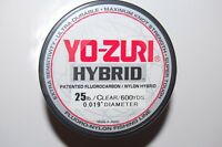 yo zuri fluorocarbon nylon hybrid 25lb lo-vis clear 600yds spool fishing line