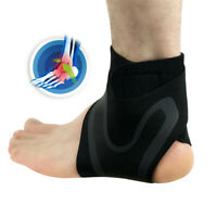 Men Adjustable Elastic Ankle Sleeve Elastic Ankle Brace Guard Foot Support Sport