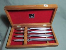 Gerber Legendary Blades Miming 4 Steak Knives in Walnut Case