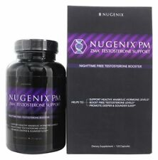 NEW Sealed Nugenix PM ZMA Nighttime Testosterone Support 120 Capsules in Date !