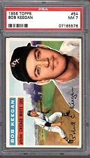 BOB KEEGAN 1956 TOPPS #54 PSA 7 GRADED BASEBALL CARD - WHITE SOX!