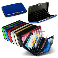 8 Colours Waterproof Business ID Credit Card Wallet Holder Aluminum Metal Pocket