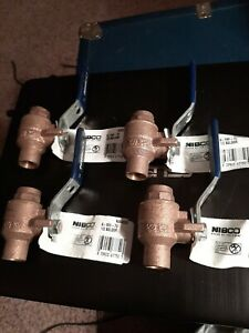 4 Nibco S-585-70 1/2 Solder Valves