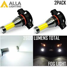Alla Lighting High Power LED Fog Light Bulb Driving Lamp 6000K Bright White,2504