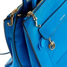499$ JUICY COUTURE Blue Leather Purse Bag Satchel Shoulder Bag New with Tags