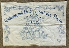 New listing Antique Blue Work Kitchen Cloth Table Runner German