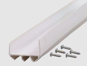 "06528 M-D Building 36"" White U-SHAPED Vinyl Bottom Door Weatherstrip Seal w/ FIN"