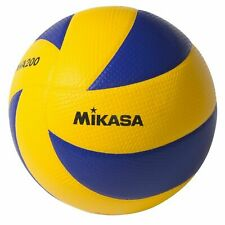 MIKASA MVA200 Official Olympic Volleyball in Blue and Yellow