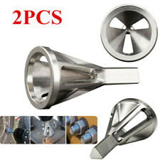 2pc Stainless Steel Deburring External Chamfer Tool Drill Bit Remove Burr Silver