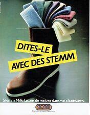 PUBLICITE ADVERTISING 0217  1981  les chaussettes homme Tub'Stemm Pingouin