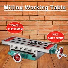 Milling Machine Compound Work Table Cross Slide Bench Drill Press Vise Fixture.