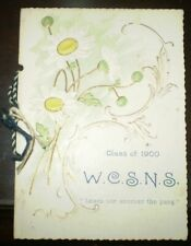 WEST CHESTER STATE NORMAL SCHOOL, 1900, COMMENCEMENT PROGRAM, UNIVERSITY, PA