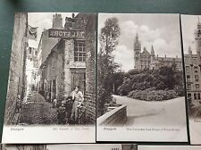 LOT OF FIVE EARLY 1900S GLASGOW POSTCARDS REMOVED FROM ALBUM
