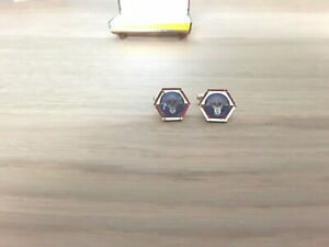 Masonic G Compass and Set Square Cufflinks and Tie Pin set in gift box.