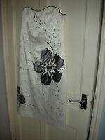 DEBENHAMS -DEBUT Cream Dress SIZE 10  Embellished  Fully lined & boned  Pristine