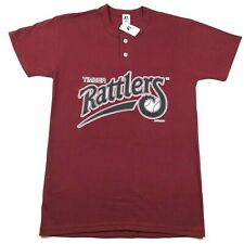 Wisconsin Timber Rattlers Mens S Red T Tee Shirt Crew Neck 2 Button Henley