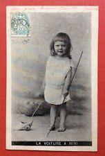 CPA. 1903. La Voiture à NINI. Petite Fille. Jouet.