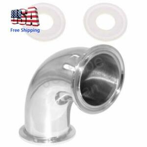 """Elbow 90 Degree 2"""" Tube OD Stainless Steel 2"""" Tri Clamp Sanitary Pipe Fitting"""