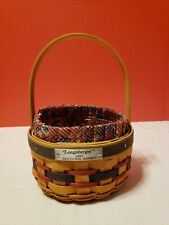 Longaberger 1997 Inaugural Basket w Protector Liner Combo