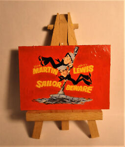 Sailor Beware Movie Poster 1952 ACEO Original PAINTING by Ray Dicken