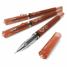 Pilot Maica - G-TEC-C Ultra Fine 0.4mm Rollerball Pen - Brown Ink - Set of 3