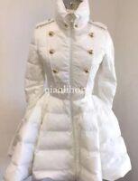Damen Daunenjacke Stehkragen Parka A-Linien-Kleid Schlank mantel warm Trenchcoat