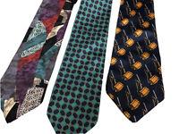 Set 3 Silk Ties, Oscar de la Renta, Beaufort, Bullock's Wilshire,