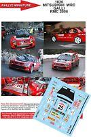 DECALS 1/24 REF 1030 MITSUBISHI LANCER WRC GALLI RALLYE MONTE CARLO 2006 RALLY