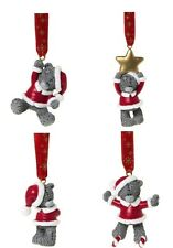 "Me To You Bear Collectors 2"" Figurines - Set Of 4 Christmas Tree Decorations"