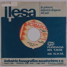 "MENDOZA SUASTI: Brocho De Oro RONDADOR Ecuador Latin Folk 7"" 45 HEAR"