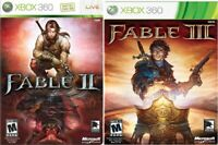 Fable 2 & 3 II III Xbox 360/One RPG Games Lot Bundle in Cases | Ships Fast!